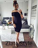 Классическое платья с чокером 3 цвета