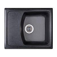 Мойка гранитная 58*50 см Бесплатная доставка цвет черный (420) Fosto прямоугольная