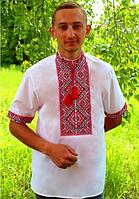 """Мужская вышиванка """"Виталий"""" с коротким рукавом"""