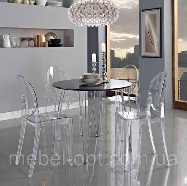 Стул Victoria Ghost chair Transparente, прозрачный поликарбонат, дизайн Philippe Starck