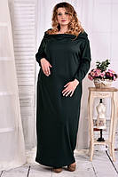Платье в пол 0570-1 зеленое большого размера 42-74 батал