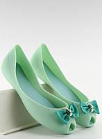10-15 Зеленые женские балетки Faben 40,39,38,37