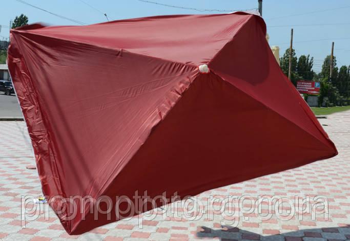 Зонт квадратный с клапаном (2x2 м) для торговли, отдыха на природе (4 метал. спицы, цвета в асс.) DJV /N-81