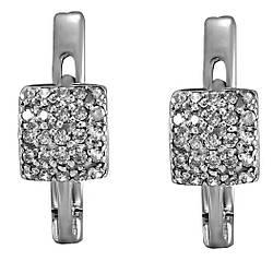 Сережки зі срібла з куб. цирконіями 177219