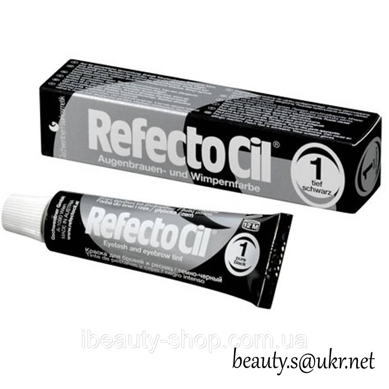 RefectoCil №1 Черная - краска для бровей и ресниц (Рефектоцил)15 мл