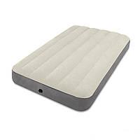 Флокированный надувной матрас матрац Intex 64707