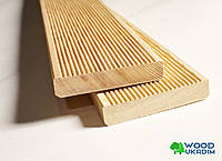 Доска террасная деревянная Лиственница Сибирская 27х142 мм
