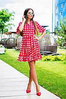 Свободное платье в горох на запах в расцветках s-t310366
