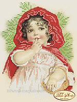 """Схема для вышивки бисером """"Красная шапочка"""""""