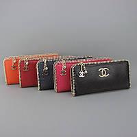 Клатч-кошелек кожаный женский цвета в ассортименте 0820, фото 1