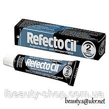 RefectoСil №2 Черно-синяя краска для бровей и ресниц (Рефектоцил),15мл