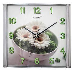 Часы настенные Rikon 11151 PIC White Flower