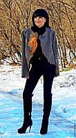 """Жакет женский из натуральной шерсти с вышивкой в технике """"ришелье""""(№229)"""