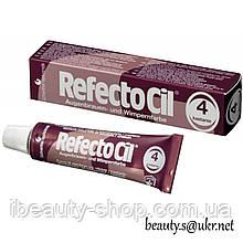 RefectoСil №4 Каштановая краска для бровей и ресниц (Рефектоцил),15мл