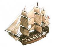 : Модель деревянного парусника для склеивания H.M.S. VICTORY