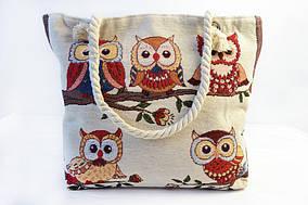 Женская пляжная сумка из плотного текстиля