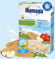 Каша молочная гречневая с яблоком Humana 200г