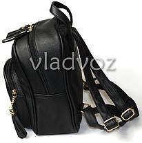 709ae79936ac Городской женский молодежный модный стильный рюкзак сумка черный, фото 2