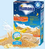 Молочная каша Humana цельнозерновая с бананом Сладкие сны, 200 г.