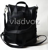 76b456fd833e Городской женский молодежный модный стильный рюкзак сумка черный, фото 3