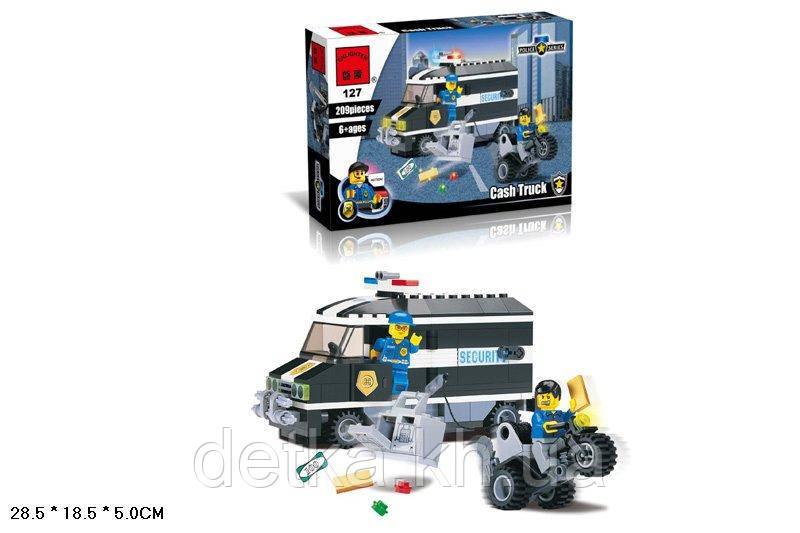 Конструктор Qman 127 полицейский транспорт 209 деталей