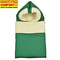 Конверт на овчине Kinder Comfort Grand, зеленый, фото 1