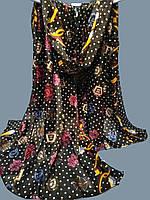 Палантин S 100% шелк Шанель  70х180см цв. 3