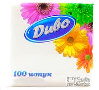 Салфетки бумажные однослойные 240*250, белые в п/п уп 100шт