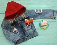 Стильная джинсовая куртка на мальчика