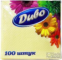 Салфетки бумажные однослойные 240*250, желтые в п/п уп