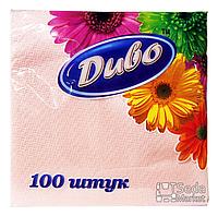 Салфетки бумажные однослойные 240*250, розовые в п/п уп
