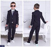 Стильный костюм пиджак+брюки костюмная турецкая , дорогая ткань с рисунком