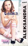 Детские капроновые гольфы Lenka ТМ Aleksandra оптом, Польша р.6-9 лет (белый), фото 2