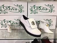 Женские модные стильные кожаные туфли Roberto Cavalli , белые