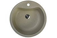Кухонная мойка гранитная 49 см круглая Valetti цвет терра серия Standart модель №3B