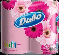 """Бумага туалетная целлюлозная на гильзе, розовая по 4рул, """"ДИВО"""