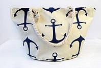 Летняя пляжная сумка с морским принтом