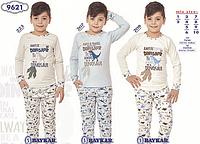 Пижама детская для мальчика ТМ Baykar р.1-2 года, голубой (2 шт в ростовке)