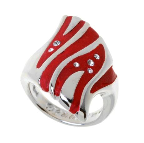"""Кольцо """"Кэллус"""" с кристаллами Swarovski, покрытое родием (j567f0r1)"""