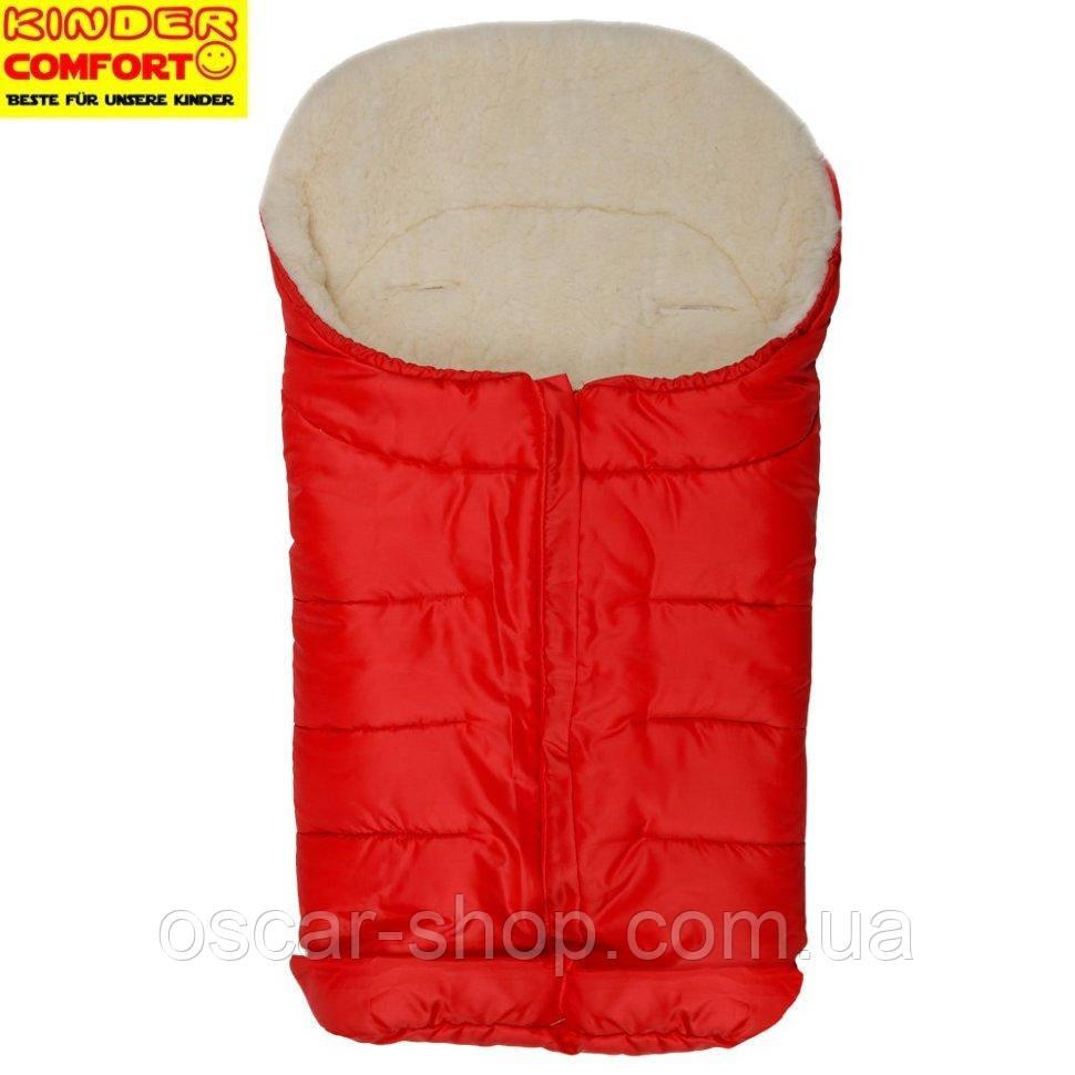 Конверт на овчині Kinder Arctic Comfort, червоний