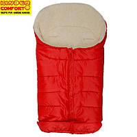 Конверт на овчині Kinder Arctic Comfort, червоний, фото 1