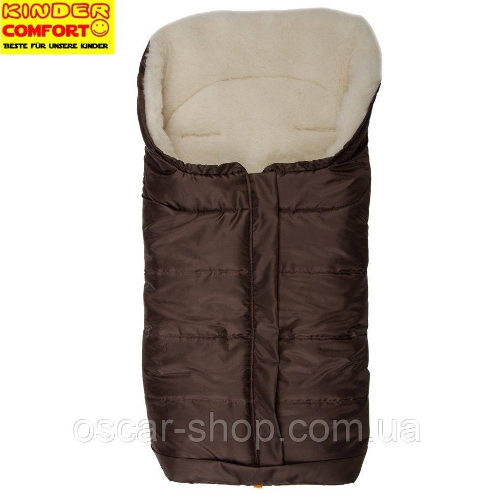 Конверт на овчині Kinder Arctic Comfort, коричневий