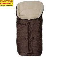 Конверт на овчині Kinder Arctic Comfort, коричневий, фото 1