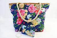 Летняя женская сумка с цветочным принтом