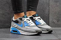 Женские кроссовки Nike Air Max, серые с голубыми вставками