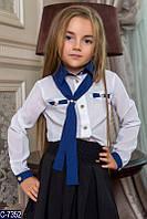 Блуза ткань - креп шифон и галстук