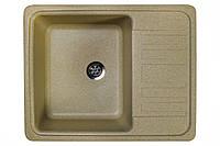 Кухонная гранитная мойка 57*46 см Valetti цвет беж серия Standart модель №9