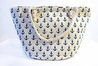 Кремовая пляжная сумка с принтом