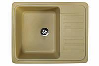 Кухонная гранитная мойка 57*46 см Valetti цвет старый камень серия Standart модель №9