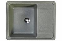 Кухонная гранитная мойка 57*46 см Valetti серая серия Standart модель №9